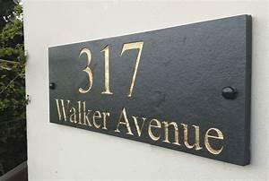 house, name, deep, engraved, slate, sign, 40cm, x, 15cm, all, colours