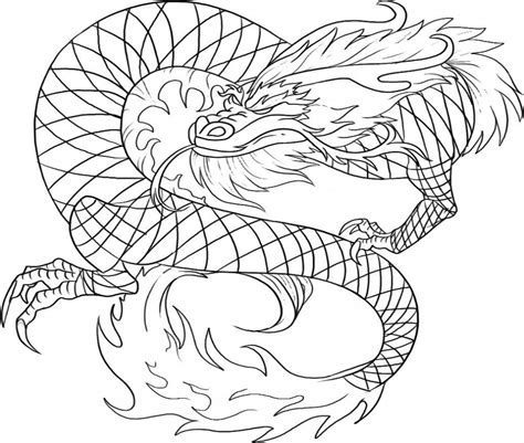 printable chinese dragon coloring pages  kids