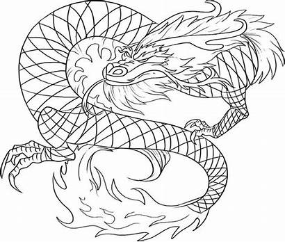 Dragon Coloring Chinese Pages Printable Draw Adults