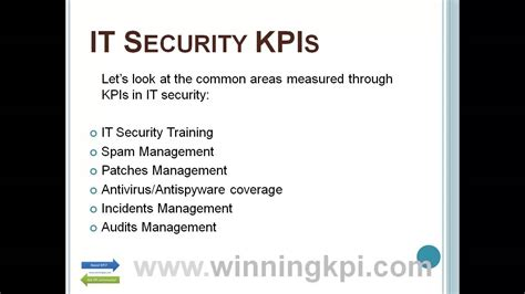 security kpis  youtube