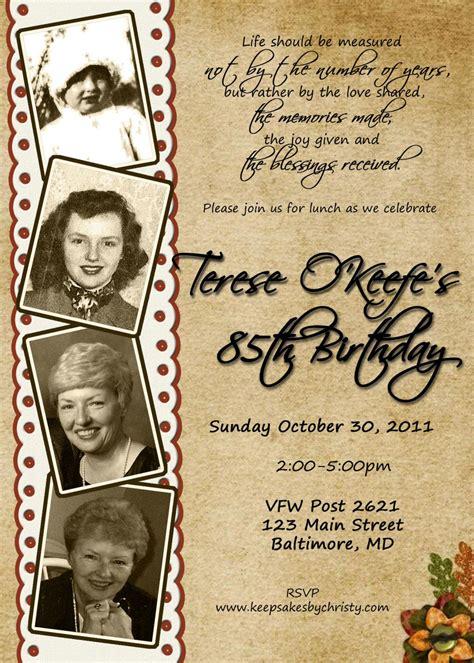 Diy Print Birthday Invites Adult 80th Birthday Invitation