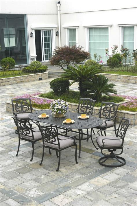 Watsons Patio Furniture Cincinnati by Andora 7 Dining Set By Hanamint Scioto Valley