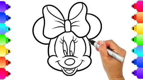 minnie mouse coloring page draw  color minnie mouse