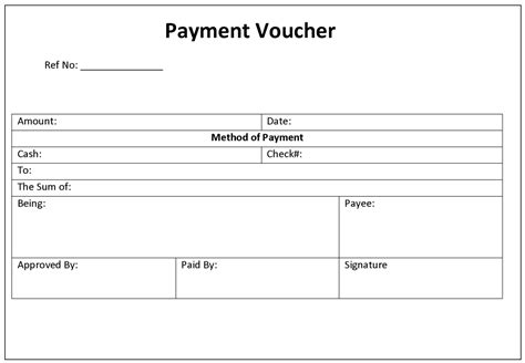 Voucher Template 7 Voucher Templates Word Excel Pdf Templates