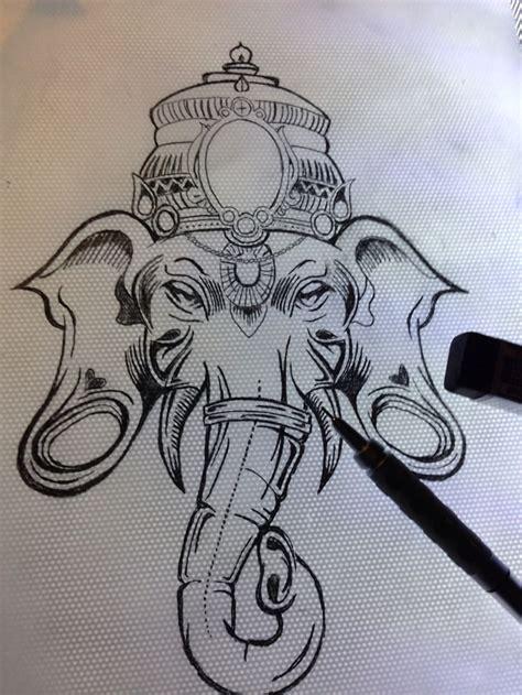 rons ganesh sketch  drew  tattoo ideas ganesha