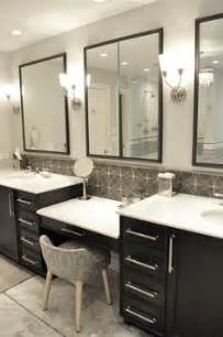 double sinks with make up vanity bathroom pinterest