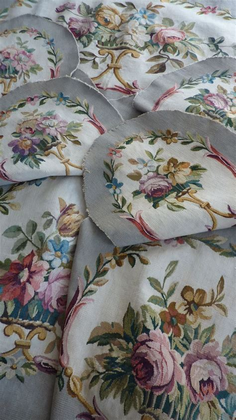 Aubusson Upholstery Fabric by 19th C Floral Tapestry Salon Set
