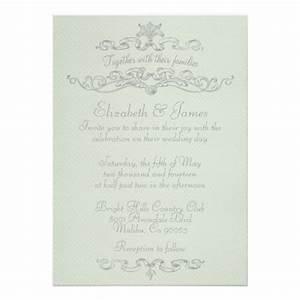 Simple elegant wedding invitations 5quot x 7quot invitation card for Free wedding invitation samples zazzle