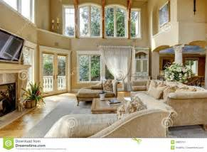 walkout house plans luxury house interior living room stock photo image