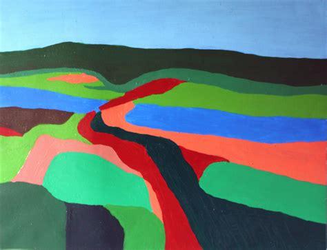 landscapes semi abstract sharadart