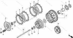 Honda Motorcycle 1996 Oem Parts Diagram For Clutch