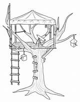 Coloring Treehouse Pages Tree Printable Observer Colouring Outdoor Adult Drawing Magic Activity Treehouses Activities Play Sheets Books Getcolorings Engraving Observ sketch template