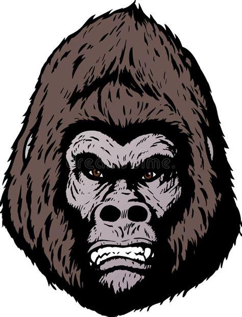 Angry Gorilla Face Cartoon