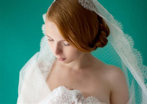 Lace Swiss Dot Mantilla Veil © Sibo Designs Bridal