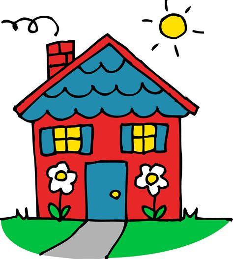 home clipart | House drawing for kids, Art drawings for ...