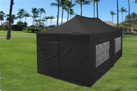 10 X 20 Pop Up Tent Canopy Gazebo W/ 6 Sidewalls