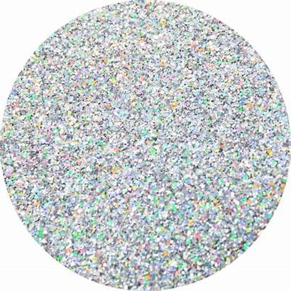 Glitter Transparent Silver Circle Sparkle Chromosphere Holographic
