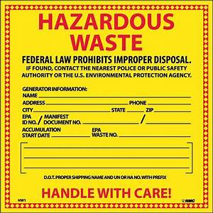 proposed haz waste generator improvement rule part 3 With hazardous waste label template