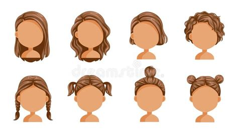 Big Family Character Set For The Animation Stock Vector