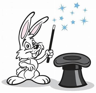Rabbit Bunny Hat Magic Clipart Magician Birthday