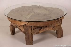 Wurzelholz Tisch Mit Glasplatte : wurzelholz couchtisch hause deko ideen ~ Bigdaddyawards.com Haus und Dekorationen