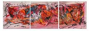 Tableau Triptyque Moderne : tableau triptyque abstrait moderne contemporain ~ Teatrodelosmanantiales.com Idées de Décoration