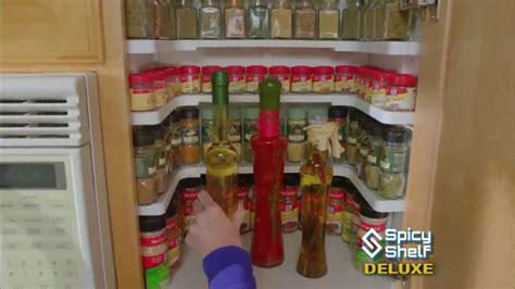 Spice Rack Tv by Spicy Shelf Deluxe Tv Commercial Stackable Kitchen