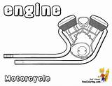 Motorcycle Coloring Motor Motorcycles Cool Engine Printout Ktm Yescoloring sketch template