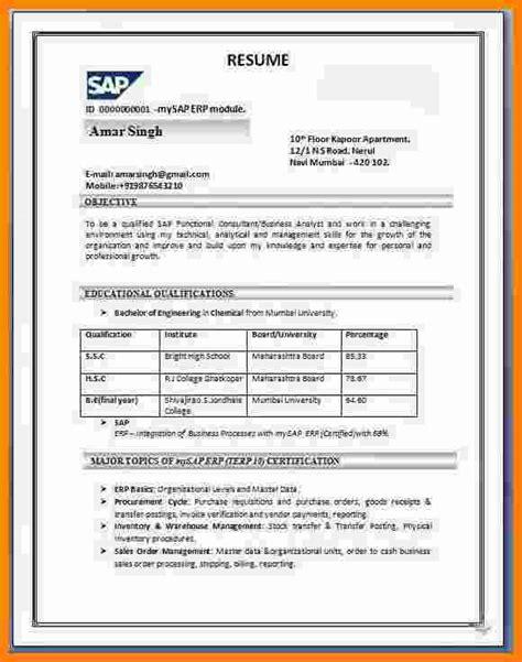 resume format india resume templates