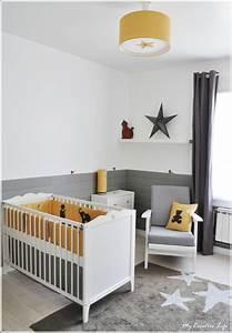 chambre bebe jaune et gris et blanc tour de lit With chambre bebe beige et blanc