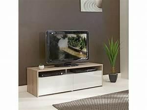 Meuble Tv D Angle Blanc : meuble tv blanc chene meuble hifi d angle trendsetter ~ Teatrodelosmanantiales.com Idées de Décoration