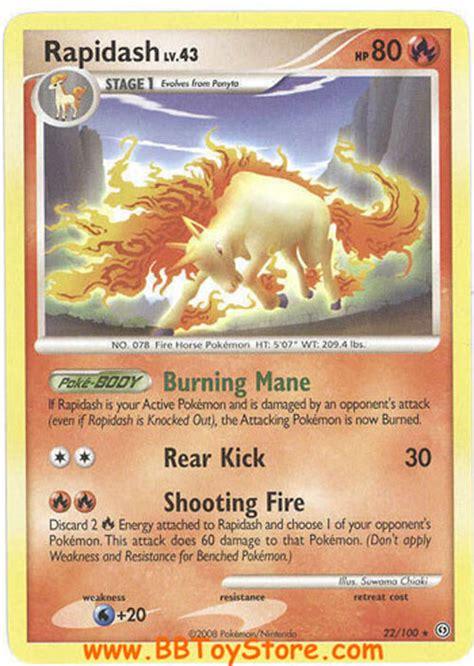 pokemon card stormfront  rapidash lv rare