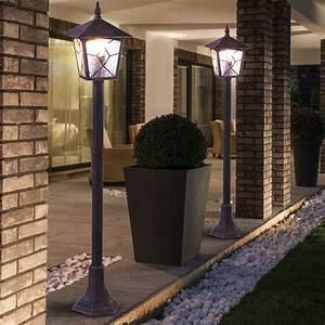 Terrassen Beleuchtung Außen : 2er set stand lampen au en laternen alu garten weg beleuchtung terrassen steh leuchten kaufen ~ Sanjose-hotels-ca.com Haus und Dekorationen