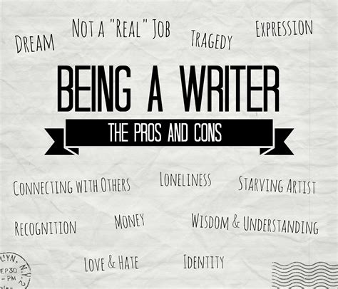 My Pros And Cons Of Being A Writer  Youth Are Awesome