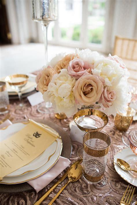 Pink and Rose Gold Wedding Centerpiece Elizabeth Anne