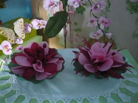 de jolies fleurs avec des serviettes en papier les p tites mains bricoleuses