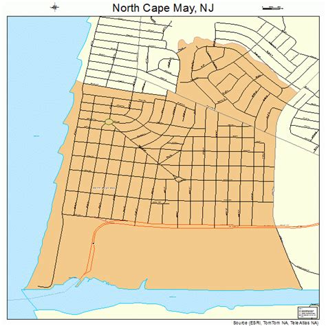 cape may new jersey map 3452650