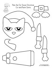 Cut and Paste Pete the Cat Coloring Pages