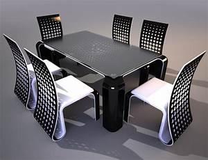 Ensemble Chaise Et Table : ensemble de table et chaises au design futuriste ~ Dailycaller-alerts.com Idées de Décoration
