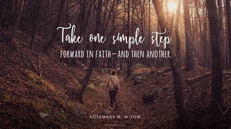 daily quote  step  faith mormon channel