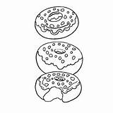 Coloring Donut Donuts Pages Clipart Sprinkle Momjunction Webstockreview Yummy Leanna Apollinaire Toddler sketch template