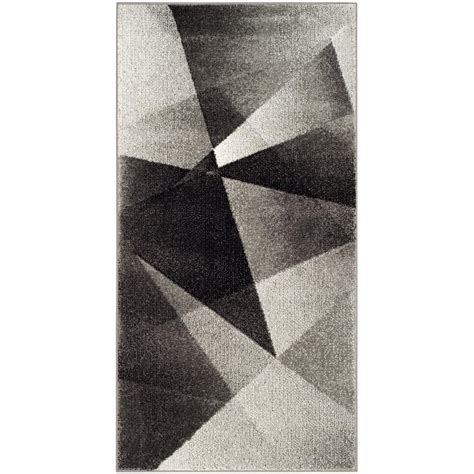 Safavieh Porcello by Safavieh Porcello Light Gray Charcoal 3 Ft X 5 Ft Area