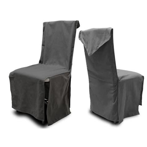 vente de housse de chaise housse de chaise coton recyclé panama anthracite achat