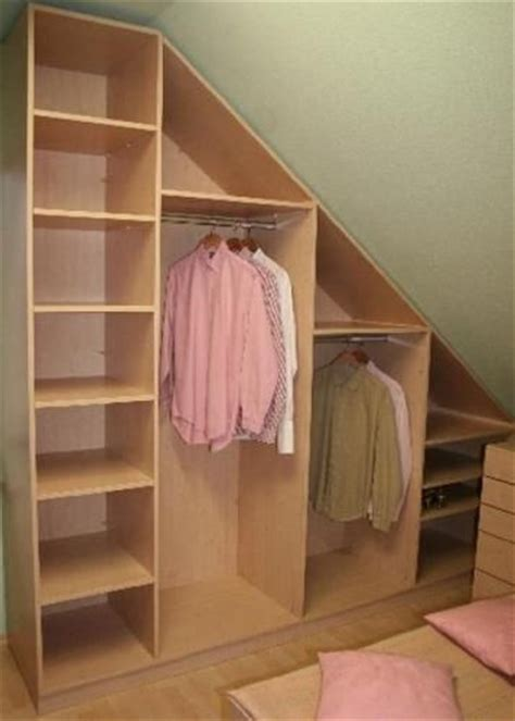 Closet Organization Ideas For Slanted Roof Attic Space by Best 25 Slanted Ceiling Closet Ideas On Rooms