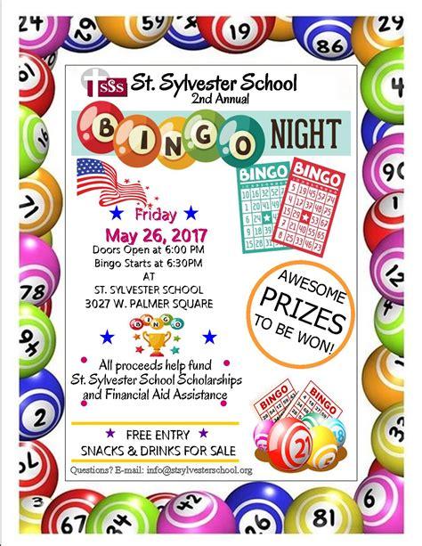 bingo night flyer march st sylvester school