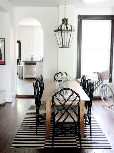 black  white dining room  hgtv