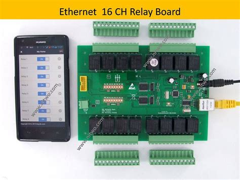 Network Ethernet Relay Board Android Phone Computer
