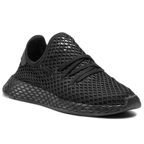 boty adidas deerupt runner   cblackcblackftwwht sneakersy polobotky damske