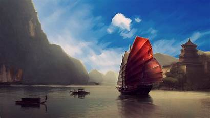 Asia Ship Chinese Scenery Asian Landscape Wallpapers
