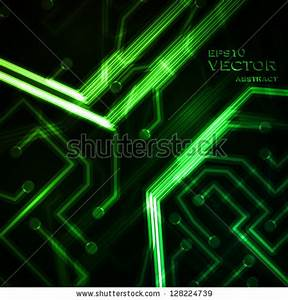 Neon Circuit Board Abstract Vector Background Technology